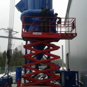 instalowanie filtrów odpylania